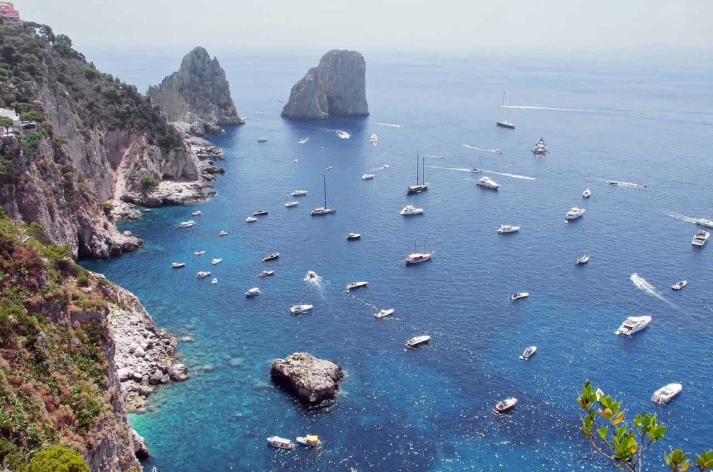 Ïle de Capri faisant partie des îles italiennes